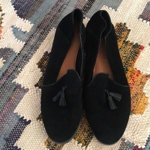 Lucky Brand black suede Loafers